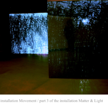 Teoksen nimi: Matter&Light 2008 / Part 3 of the  Videoinstallation/Amos Anderson Art Museum, Helsinki