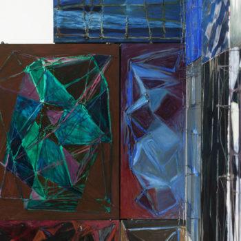 Teoksen nimi: Rautalankamuunnelmia / Wire Variations:  yksityiskohta/detail