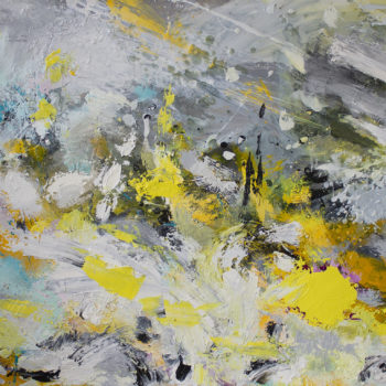 Teoksen nimi: The Valley of Transience oil painting on synthetic paper 58x89cm 2020