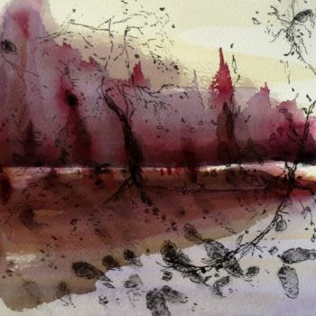 Teoksen nimi: Maiseman laulu /Landscape is Singing XIV