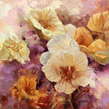 Teoksen nimi: Keltaiset kukat Keltaiset kukat.2016. Öljy kankaalle 80x106cm