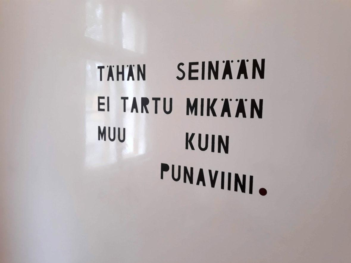 teksti seinään 2019