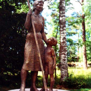 Teoksen nimi: Kaipaus (Kotirintamatyön muistomerkki, Kankaanpää)