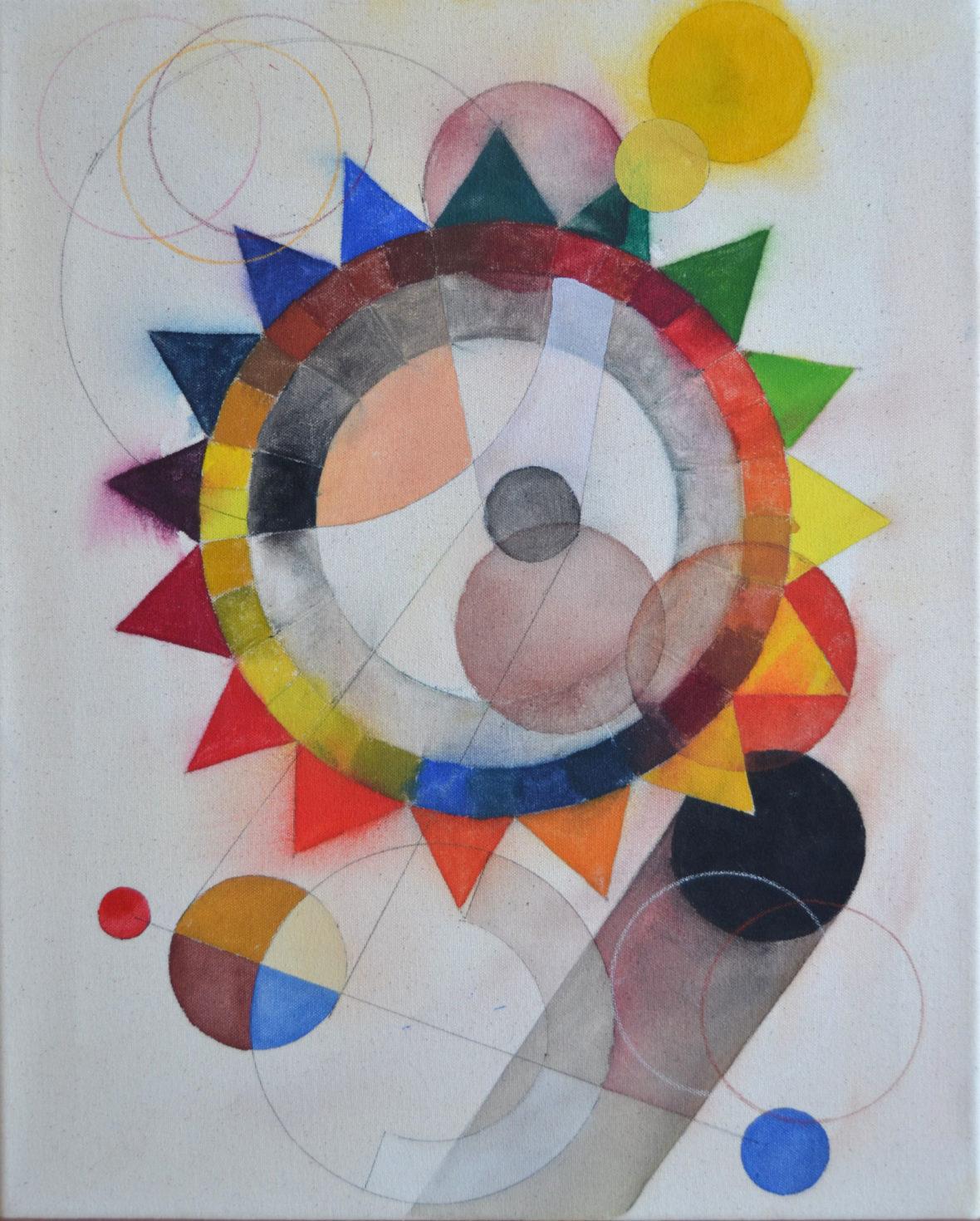Abstract Composition (colour wheel) I