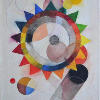 Teoksen nimi: Abstract Composition (colour wheel) I