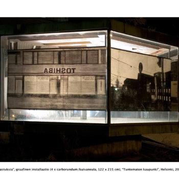 Teoksen nimi: Heijastuksia / Reflections, Helsinki, Kallio