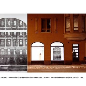 Teoksen nimi: Heijastuksia / Reflections, Helsinki, Lönnrotinkatu