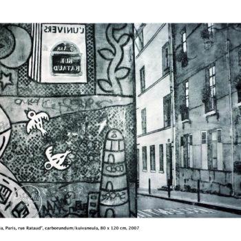 Teoksen nimi: Heijastuksia / Reflections, Paris, rue Rataud