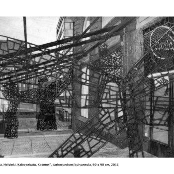 Teoksen nimi: Heijastuksia / Reflections, Helsinki, Kalevankatu, Kosmos