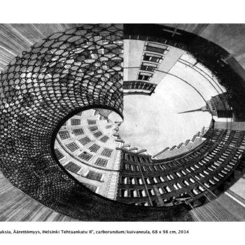 Teoksen nimi: Heijastuksia / Reflections, Äärettömyys, Helsinki, Tehtaankatu II