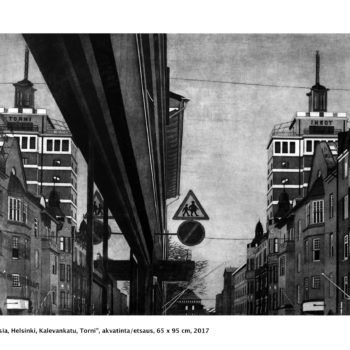 Teoksen nimi: Heijastuksia / Reflections, Helsinki, Kalevankatu, Torni