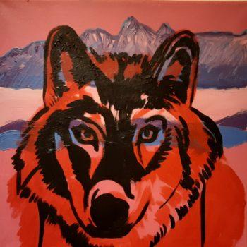 Teoksen nimi: Punainen susi