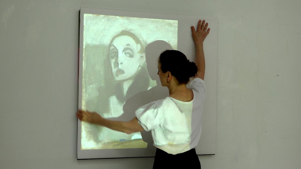 En målarinnas självporträtt, Taidemaalarin omakuva
