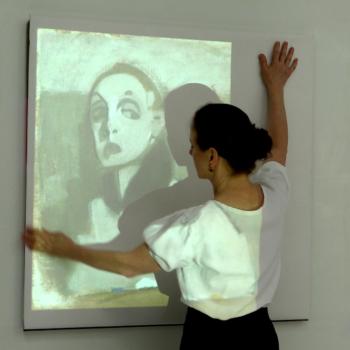 Teoksen nimi: En målarinnas självporträtt, Taiteilijattaren omakuva