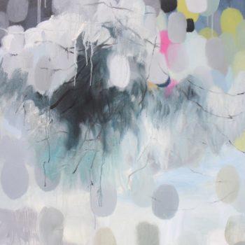 Teoksen nimi: Kaunismaailma 31., Beautifulworld,  160x100cm, acrylic painting 2015
