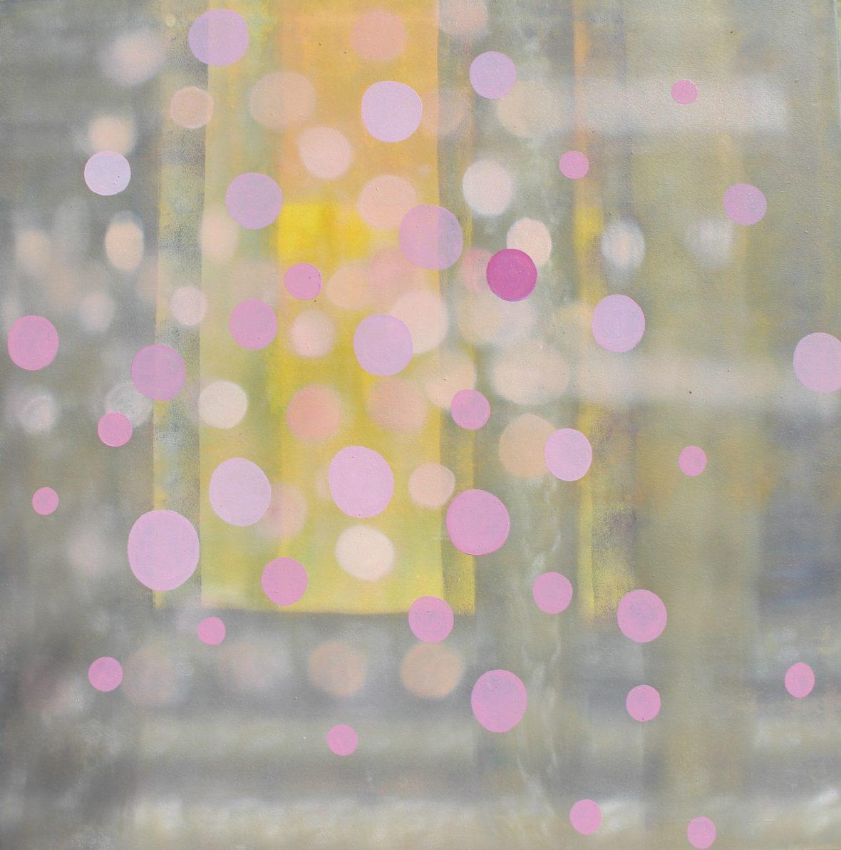 Sarjasta Kaunismaailma Valot III, öljyvärimaalaus, 100x100cm, 2017-18