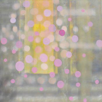 Teoksen nimi: Sarjasta Kaunismaailma Valot III, öljyvärimaalaus, 100x100cm, 2017-18