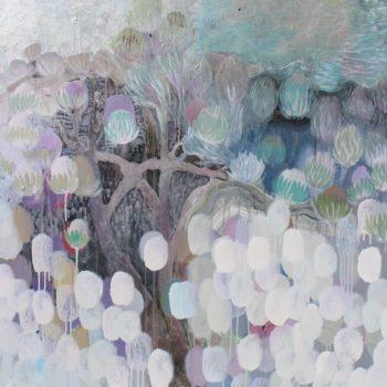 Teoksen nimi: Sarjasta Kaunismaailma 27., akryylimaalaus,  120×100 cm, 2015