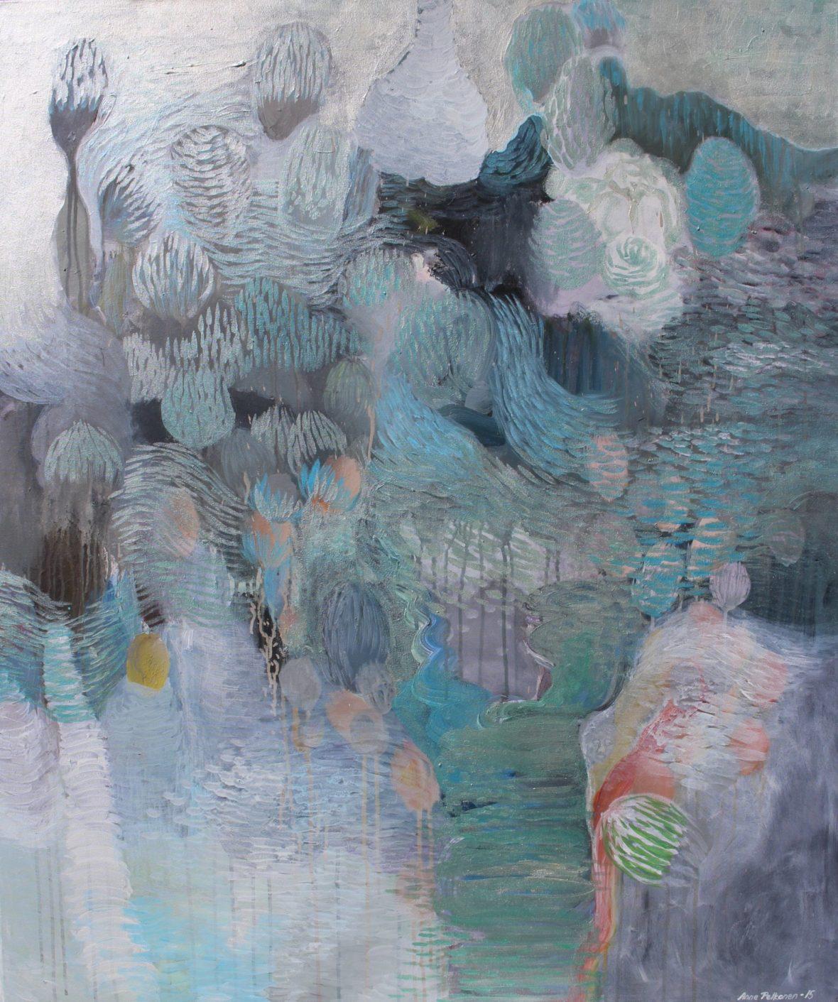Sarjasta Kaunismaailma 28., akryylimaalaus, 120×100 cm, 2015
