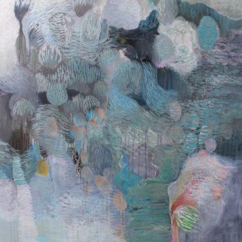 Teoksen nimi: Sarjasta Kaunismaailma 28., akryylimaalaus, 120×100 cm, 2015