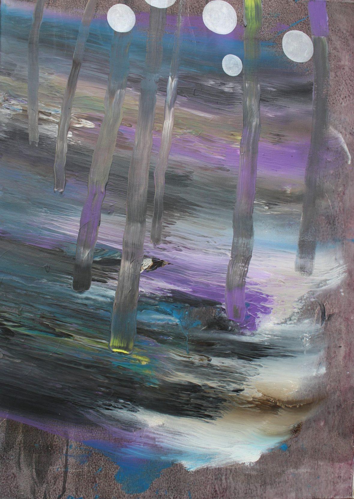 Sarjasta Kaunismaailma 53., 70x50cm, akryylimaalaus, 2016