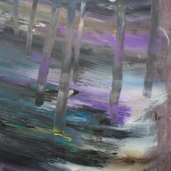 Teoksen nimi: Sarjasta Kaunismaailma 53., 70x50cm, akryylimaalaus, 2016