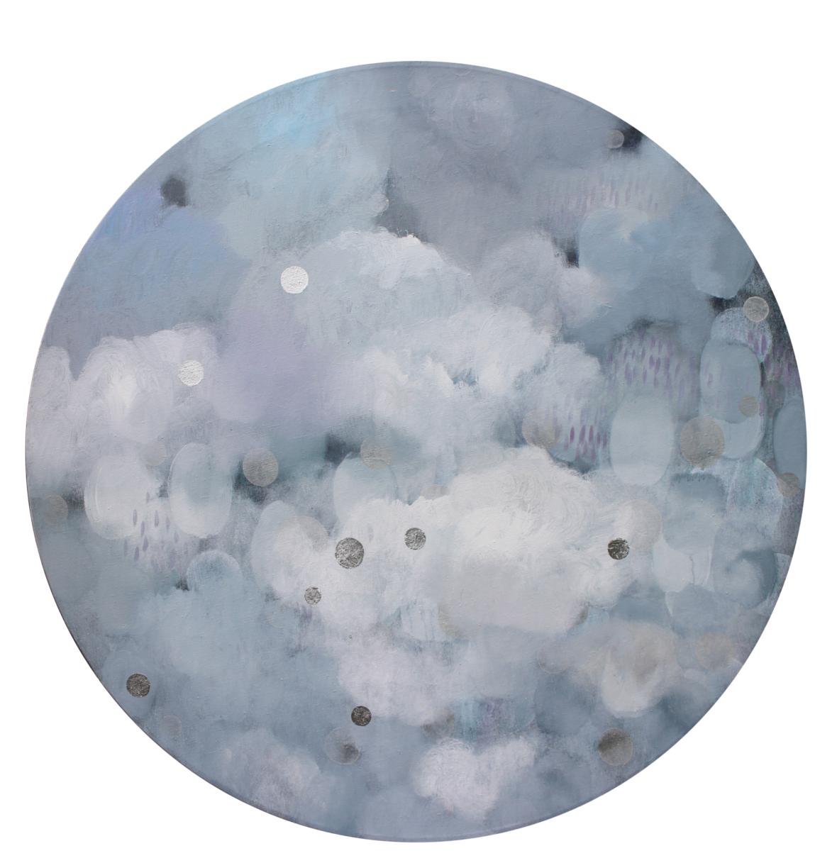 Sarjasta Kaunismaailma 61., akryyli ja lyöntimetalli, 110 cm, 2016