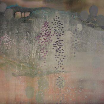 Teoksen nimi: Triptyykki sarjasta Kaunismaailma 64., akryylimaalaus, 100×300 cm, 2016