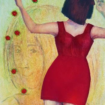 Teoksen nimi: Punapukuinen nainen