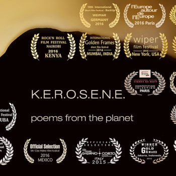 Teoksen nimi: K.E.R.O.S.E.NE. Poems from the Planet  experimental shortfilm