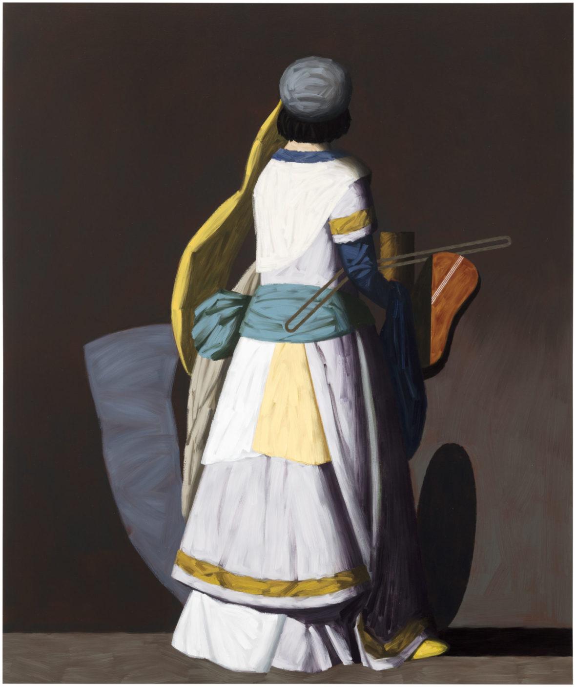 Konsertto II, 2017, öljy kankaalle, 204 x 170 cm
