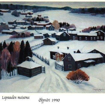 Name of the work: Lapsuuden maisema 1990