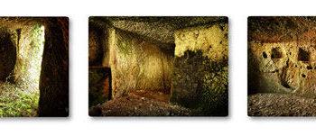 Teoksen nimi: Unohdettu etruskiluola I-III, Mazzano Romano