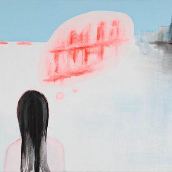 Teoksen nimi: Saaren tyttö 100×150 cm
