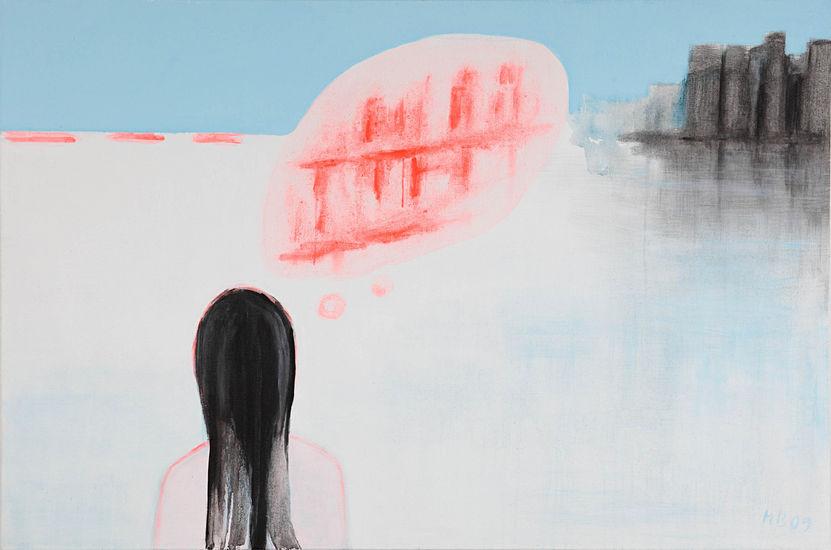 Saaren tyttö 100×150 cm