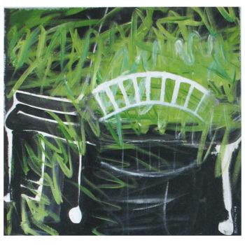 Teoksen nimi: Kaarisilta. Arched bridge. 73 x 73.