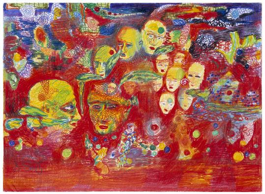Värikynäpiirustus 1993-1998