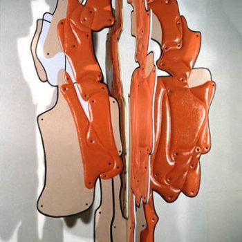 Teoksen nimi: Punapuu 225x130x130 cm