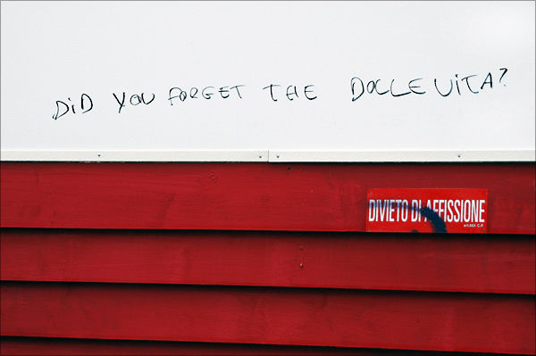 Did You Forget The Dolce Vita? Urban-sarjasta/Urban Photo series