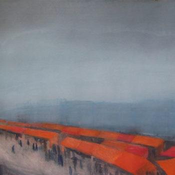 Teoksen nimi: Muistikuvia sateiselta torilta, 2007