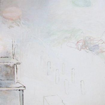 Teoksen nimi: Maalaus sarjasta Keskeneräiset leikit: Kolari –  Painting from the series Incomplete Plays: Car Crash (2011)