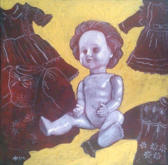 Neljän mekon salaisuus. 2012. 43×43. Öljymaalaus