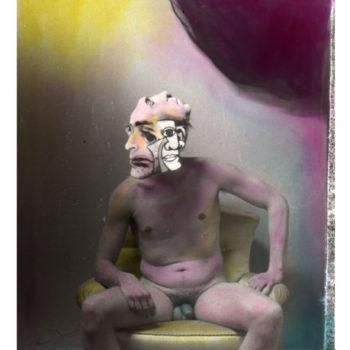 Teoksen nimi: Kubistinen tutkielma rikollisen mielestä, sävytetty hopeagelatiinivedos, 30x24cm, 2013