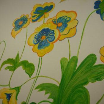 Teoksen nimi: seinämaalaus/ päiväkoti Niinipuu