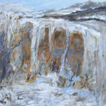 Teoksen nimi: Kiviseinämää  120 x 100 cm  v. 2009