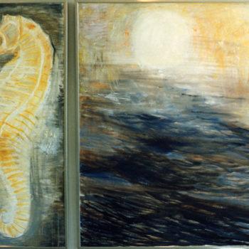 Teoksen nimi: Merihevoset tanssivat nousevalle auringolle