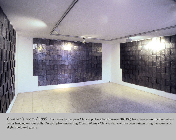 Chuantze´s Room / 1995/ part 2 of the 3-room installation/ Galleria Sculptor Helsinki