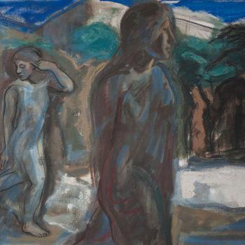 Teoksen nimi: Luostarin puutarha 1