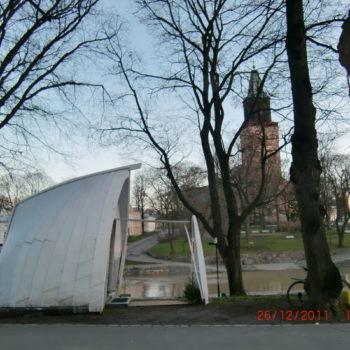 Teoksen nimi: Kokka, 2011, tilateos, korkeus 350 cm