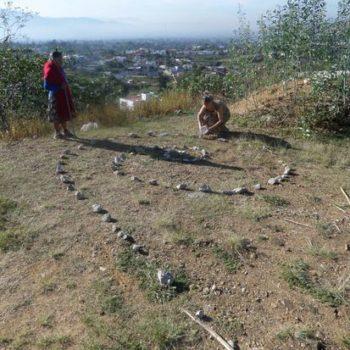 Teoksen nimi: SPIRAL PITY, Performental Art, performanssi ja ympäristötaideteos, 2015, Oaxaca, Meksiko